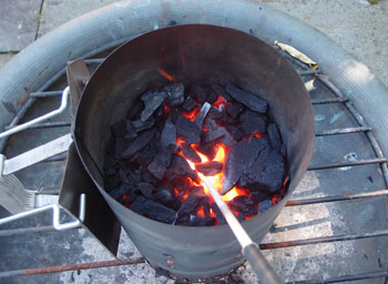how to cook with lump charcoal