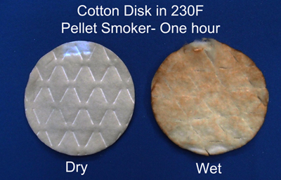 smoke on cotton pads