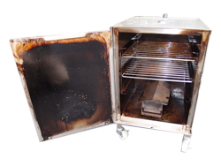 creosote covered smoker