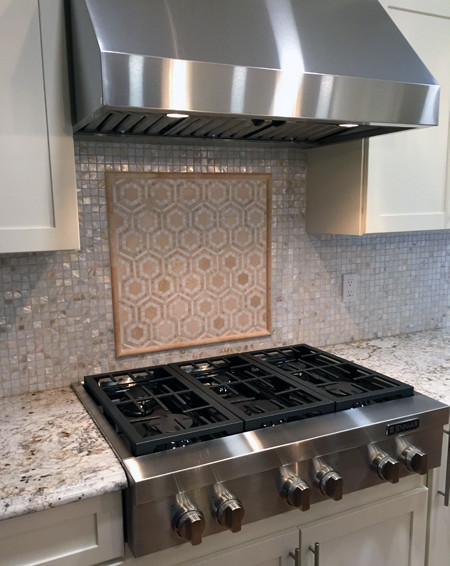 combination burner cover and backsplash rh genuineideas com stove top tile backsplash Cook Stove Backsplash