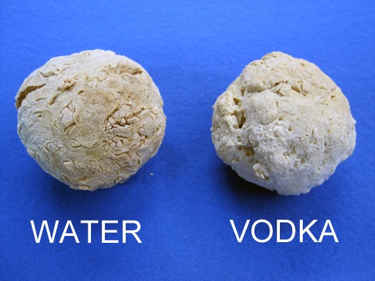 water vodka baked spheres
